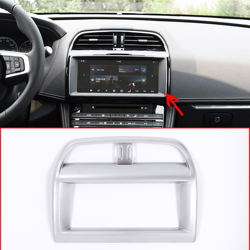 Car Interior ABS Navigation Screen Frame Trim For Jaguar XE XEL F-Pace f pace X761 Car Accessories