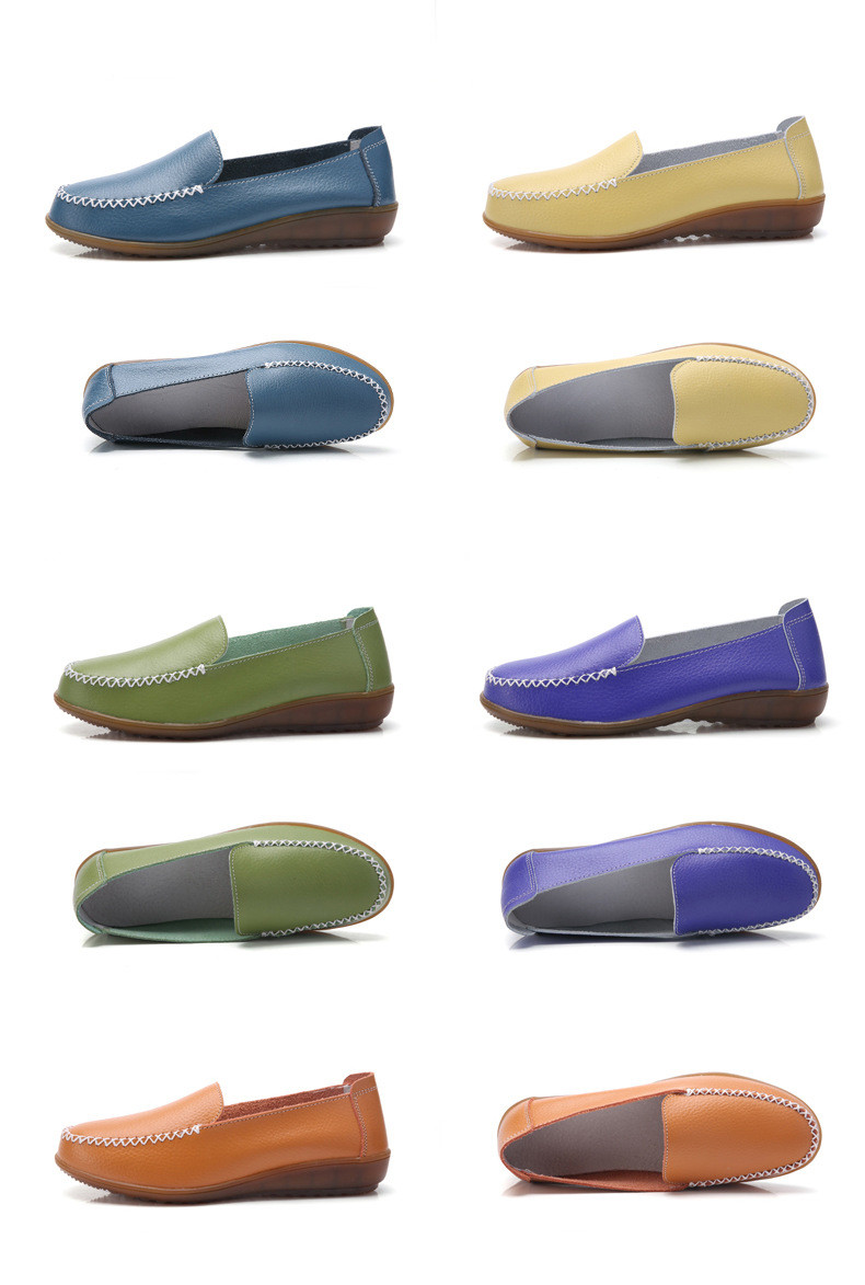 XY 518-2019 Genuine Leather Women's Shoes Soft Woman Loafers-20