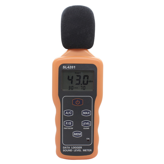 Portable Lcd Digital Sound Level Meter Decibel Data Logger 30-130dB With USB SL4201 цена