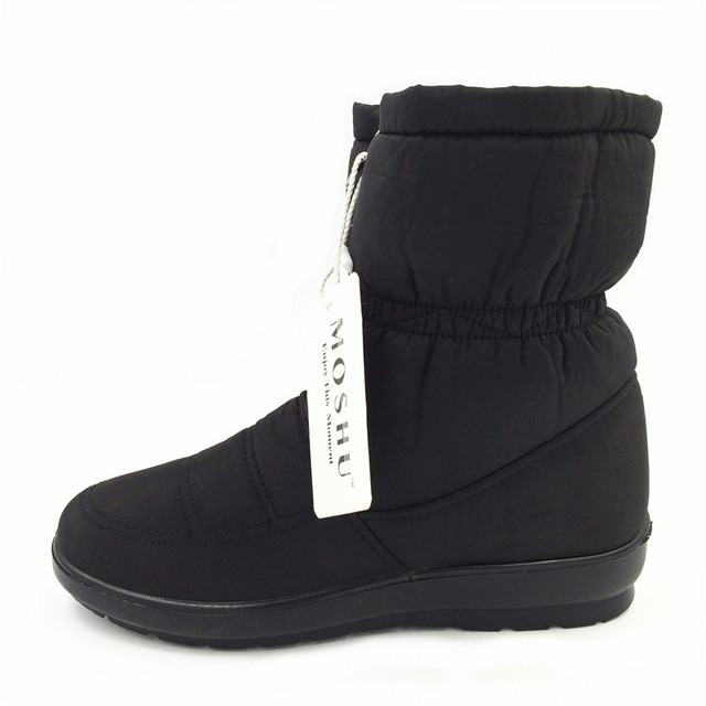 Winter Women Boots Female Waterproof Ankle Boots Down Warm Snow Boots Ladies Shoes Woman Zipper Fur Insole Free Botas Mujer