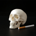 Mini Skull Human Anatomical Anatomy Head Medical Model Convenient 92x99x71mm