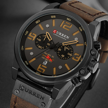 Marca de lujo CURREN nuevos hombres cronógrafo moda hombres impermeable deportes ocio relojes de los hombres reloj de cuarzo Relogio Masculino