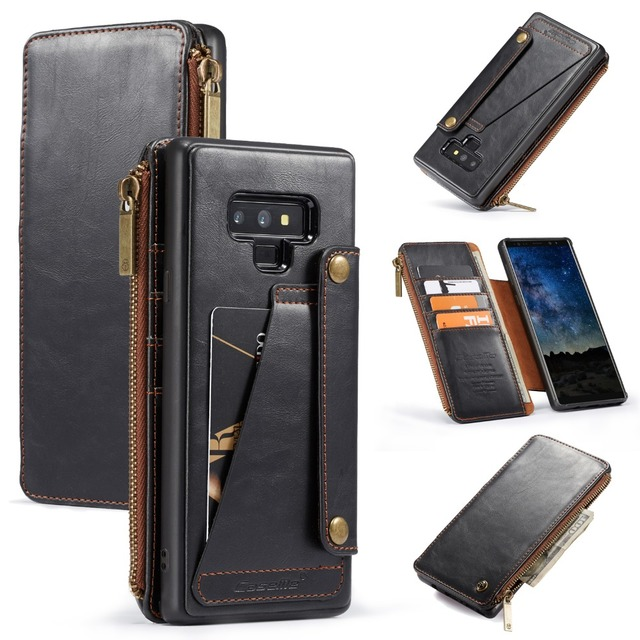 quality design 2a633 54033 US $11.98 20% OFF|For Galaxy Note 9 Case Luxury Detachable Zipper Card  Slots Magnetic Wallet Phone Case Cover for Samsung Galaxy Note 9 Coque  Capa-in ...