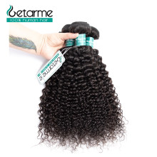Getarme Kinky Curly Human Hair 1/3/4 Bundles Non Remy Mongolian Human Hair Weave Natural Color 8-26 Inch(China)