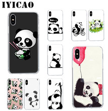 IYICAO Nette Chinesische Panda Harte Fall Abdeckung Shell für iPhone 4 4s 5 5s Se 6 7 7plus 8 8Plus X XS MAX XR 6s Plus 11 pro max(China)