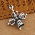 Handmade 925 Silver Dorje Pendant Tibetan Dorje Bell Pendant vintage silver dorje amulet pendant buddhist symbol jewelry gift