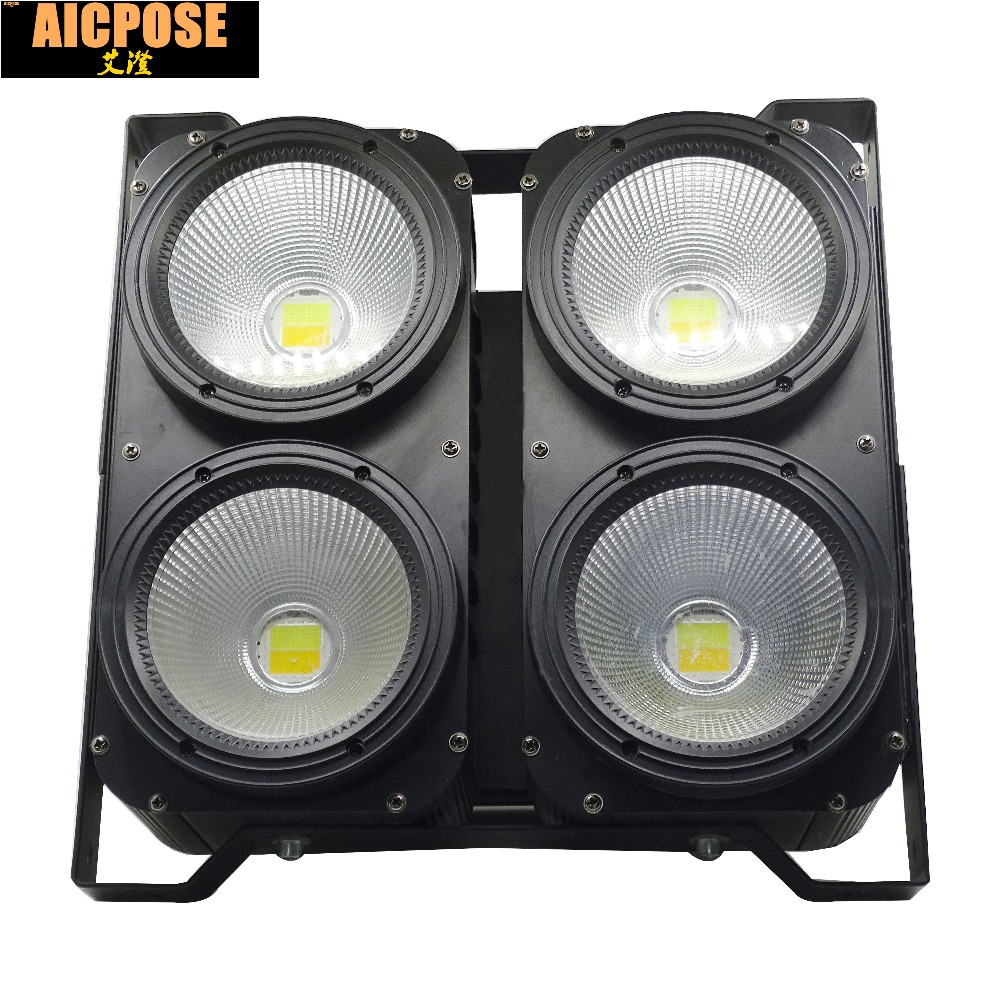 New Professional Combination 4x100W LED blinder light 4eyes COB Cool/Warm White LED Wash Light High power DMX Stage Lighting