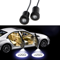 2Pcs Ghost Shadow Light Welcome Lamp Logo Laser Projector Car LED Door Warning Light For Ford