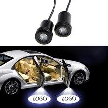 2 шт. Призрак Тень Свет Добро пожаловать лампа логотип лазерный проектор автомобиля светодиодный Двери Предупреждение света для Ford Audi BMW Toyota для Volkswagen
