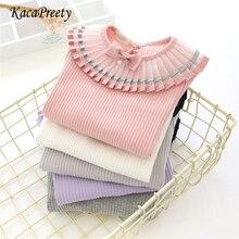 Белая школьная блузка для девочек; сезон весна-осень; детская рубашка с длинными рукавами; блузки для малышей; удобный топ; одежда для детей 2-6 лет