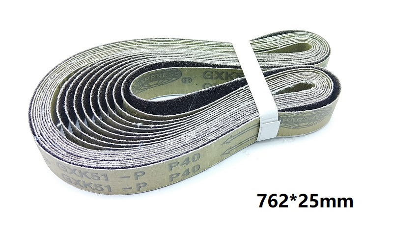 New 10pcs 762*25mm Abrasive Sanding Belt On Metal Belt Grinder GXK51 For Weld Surface Conditioning