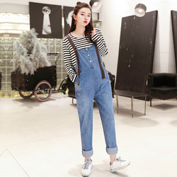Denim Overalls For Pregnant Women Maternity Pregnancy Jeans Overalls Pants Maternity Denim Jumpsuit Maternity Pants Clothes Y696