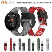 Bracelet de montre en Silicone souple bracelet de montre de remplacement pour Garmin Forerunner 735/220/230/235/620/630 bracelets de bracelet de montre