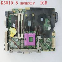 K50ID Motherboard For ASUS X5DI K50IE K50I K50ID Laptop Mainboard REV 3 2 8 Memory 1GB