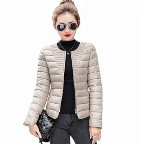 2018 Fashion Ultralight   Parka   Winter Jacket Women Quilted Coat Short Warm Thin Padded Outwear Snow Wear