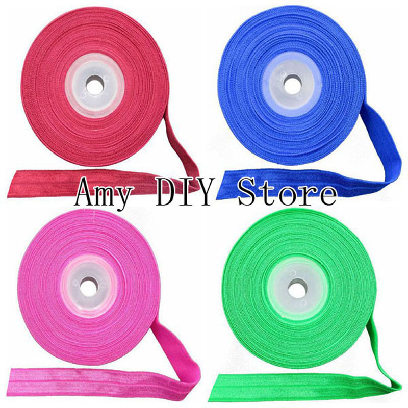 MyAmy 10 yards/lot 40 colors stretchy elastic band 5/8 inch FOE girls DIY headbands headwear shiny selling by yard Free Shipping цена