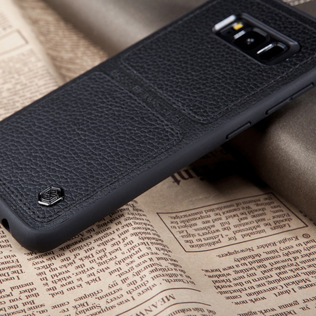 super popular ab5cb 7493d US $11.99 36% OFF|Nillkin hard back cover Cases for Samsung galaxy S8 S8  Plus Original tpu+pc Leather Phone bag Business case for galaxy s8 case-in  ...