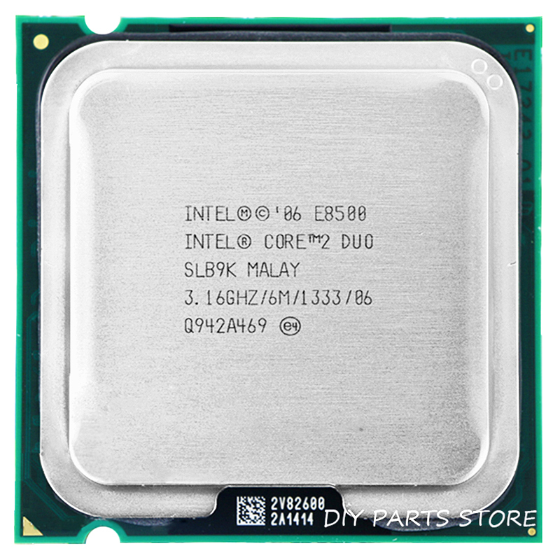 INTEL E8500 prosessor INTEL Core 2 Duo E8500 CPU (3,16 GHz / 6M / 1333GHz) Socket LGA 775