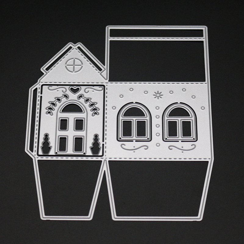 AZSG Cozy cottage Cutting Mold DIY Scrapbook Album Decoration Supplies Clear Stamp Mold Paper Card in Cutting Dies from Home Garden