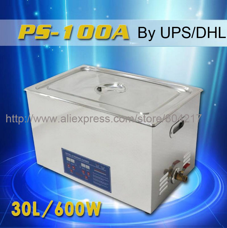 Have Video Digital Ultrasonic cleaner 30L 8gallon 600W timer heater 220V 40KHz PS 100A Industrial Wash