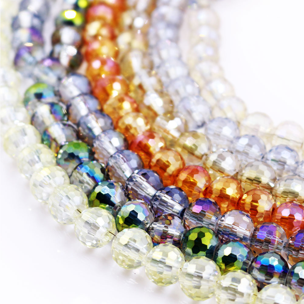 Faceted Teardrop Bead Crystal Loose Jewellery Make Necklace Craft Clothes Supply