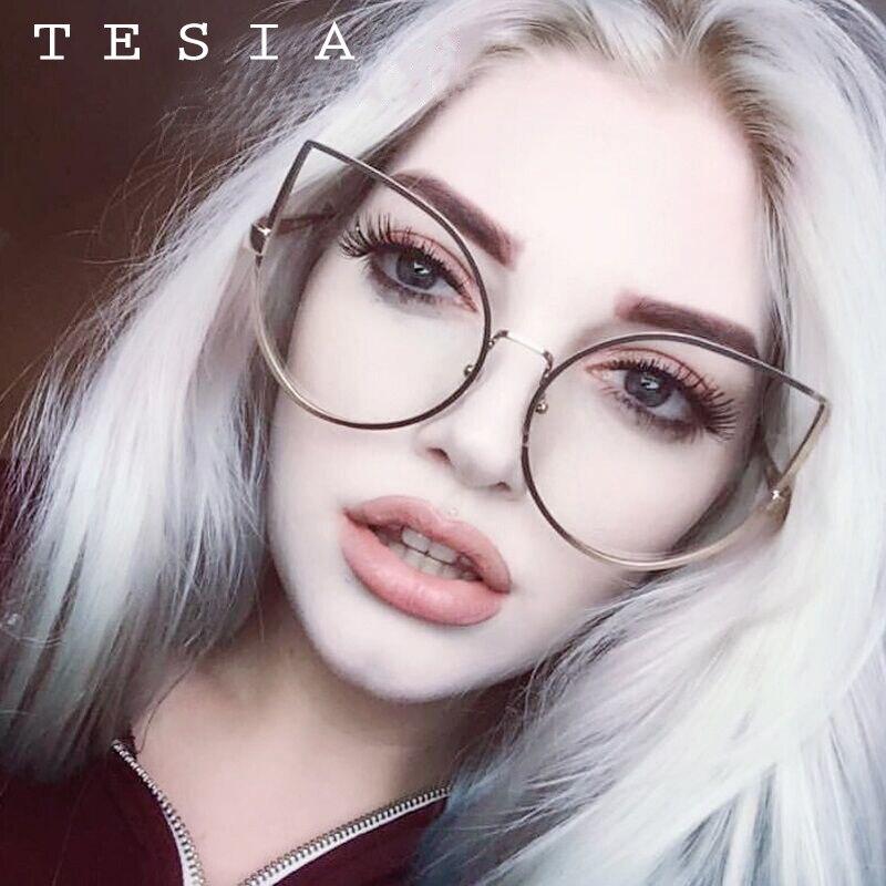 TESIA Women Shades Sun-Glasses Diamonds Mirror-Lens Oversize Brand Designer UV400 T817