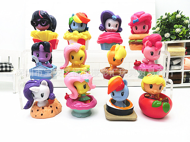 12 Pieces My Little Cute Horse Figure Unicorn And Poni Magic Moon Princess Fruit Rainbow Dash Unicorn Girl Gift Toys12 Pieces My Little Cute Horse Figure Unicorn And Poni Magic Moon Princess Fruit Rainbow Dash Unicorn Girl Gift Toys