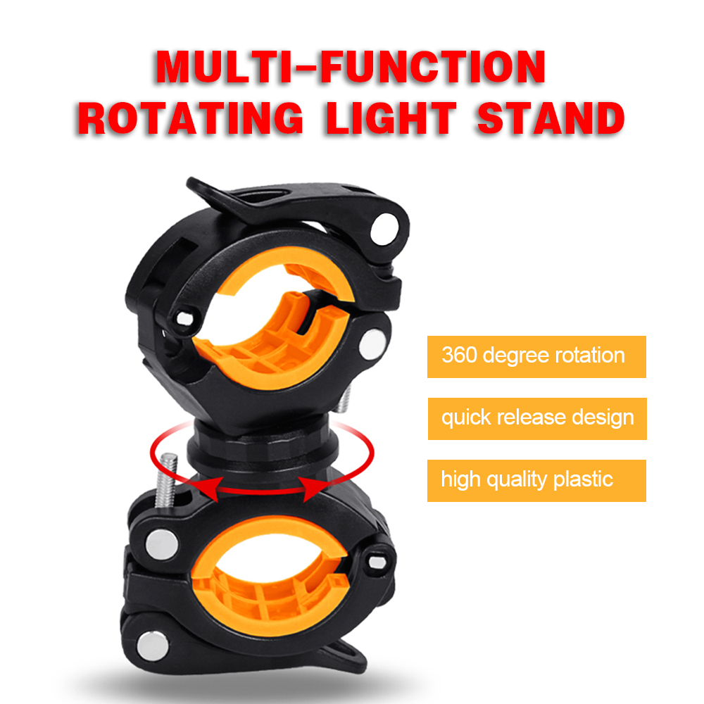 Details about  /2x Bike Cycle Bicycle Light Front LED Flashlight Mount Bracket Holder Clip Clamp