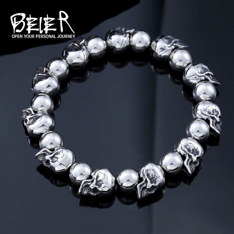 BEIER 2017 Stainless Steel New Arrival High Quality Punk Skus