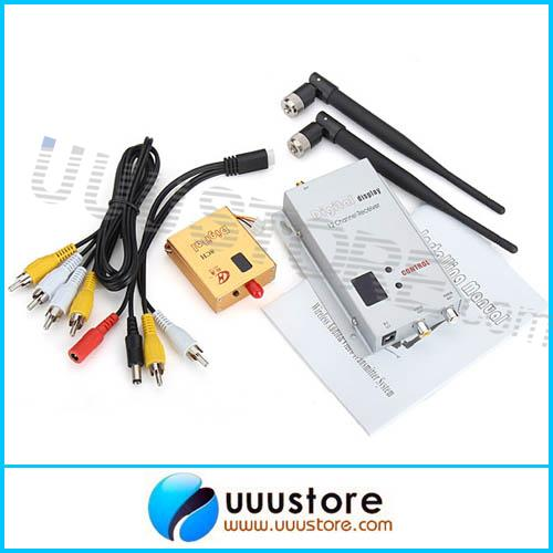 FPV 1.2Ghz/1.3G 8ch 800mw Wireless Video Transmitter and Receiver Sender for Rc Aircaft Multicopter DJI Phantom Free shipping