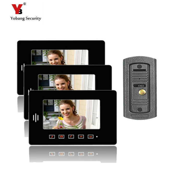 Yobang Security 7 monitor IR Camera video doorbell phone Touch Screen LCD Color Video Camera Door bell Phone Video intercom 98 inch monitor ir touch screen 2 points infrared touch screen panel ir touch screen frame overlay with usb
