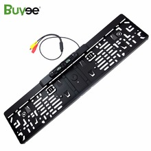 hot deal buy buyee wireless vehicle rear view camera eu license plate frame 4 ir night vision car reverse parking camera number plate camera