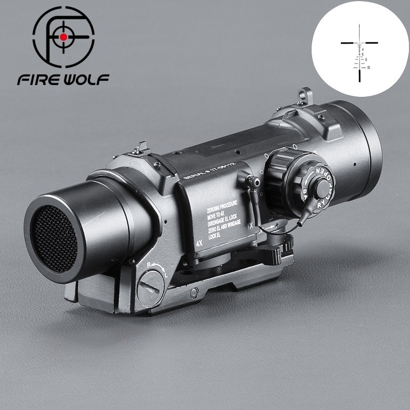 Fire Wolf Airsoft Hunting Accessories Optics Telescope Binoculars Tactical Rifle Scope Mount Red Dot Fire Scope Black Riflescope fire wolf tactical 4x32ler red dot sniper scope airsoft sight riflescope night vision rifle scope for hunting shooting