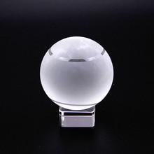 60mm Quartz Crystal Tennis Ball Sphere Fengshui Glass Ball Gift Paperweight Home Decoration Ornaments Sports Souvenir