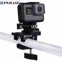 PULUZ PU196 Universal Aluminum Mount Multifunctional Car Fixing Clamp Action Camera Accessories For GoPro HERO4 5