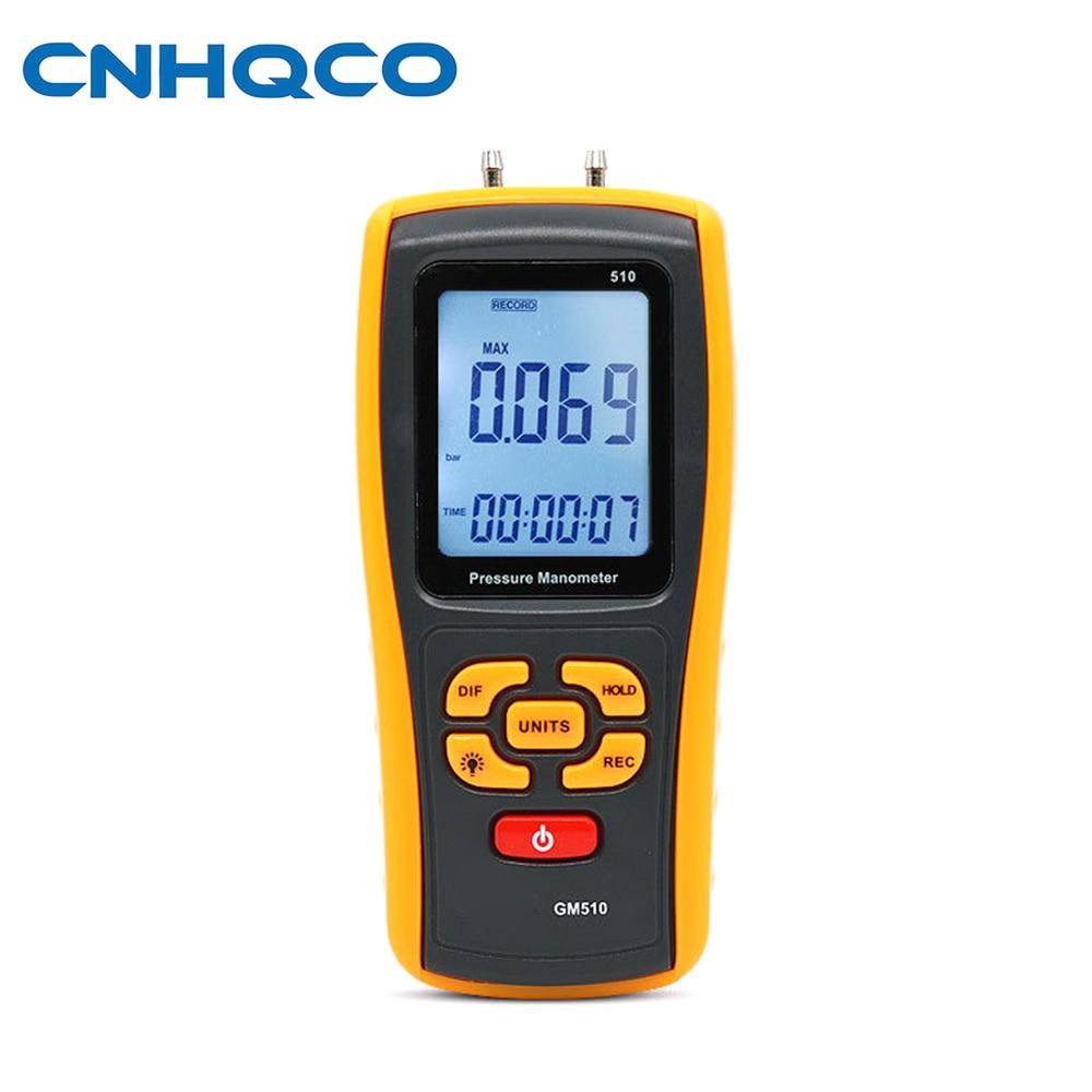 GM510 differential pressure gauge digital pressure gauge natural gas pressure gauge manometer AE174 4000pa professional clean room differential pressure gauge manometer gas air