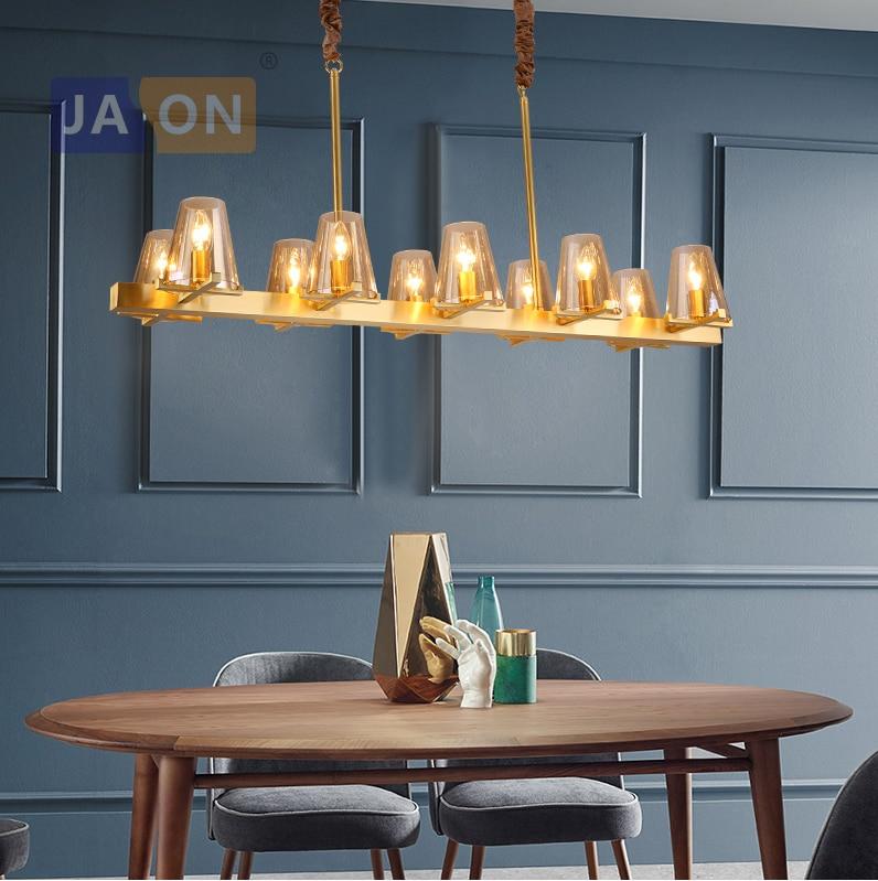 Led e14 Postmodern Bakır Cam LED Lamba led ışık. işıklar. kolye Lamba. kolye ışık Yemek Odası Yatak Odası Için