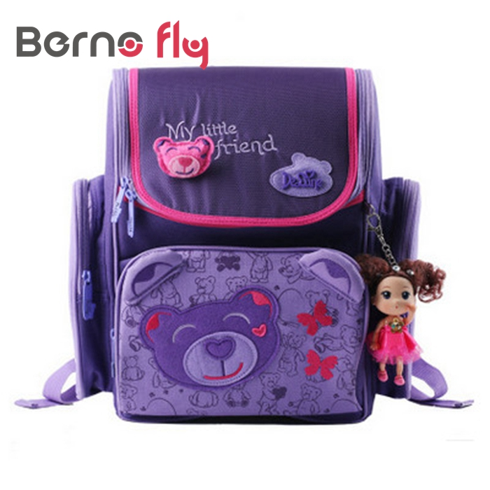 ФОТО 2017 Brand kids cartoon backpacks school backpack children orthopedic school supplies school bags for girls kids backpack girls