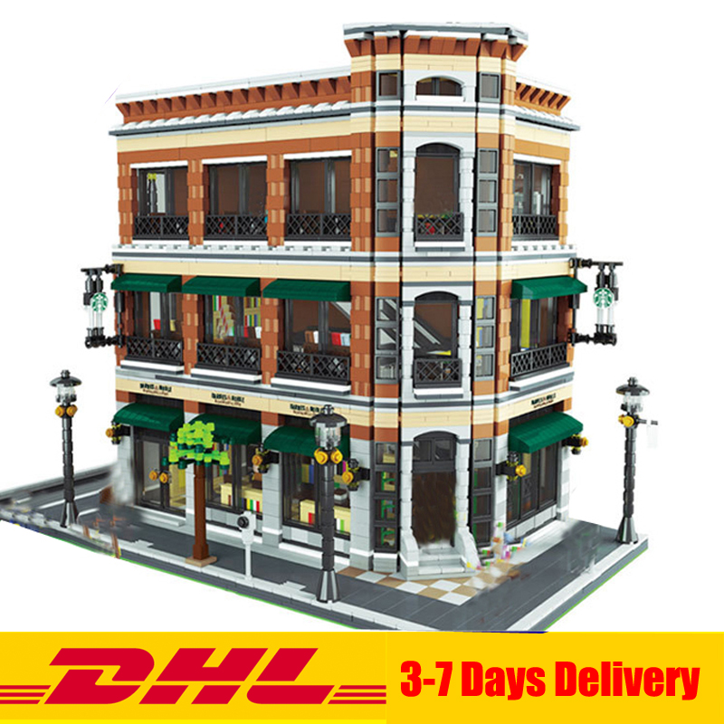 IN Stock LEPIN 15017 4616Pcs Expert MOC Starbucks Cafe and the bookstore Model set Building Kits Model Christmas Gift the flower arranging expert