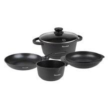 Набор посуды Rondell The One 6 предметов RDA-563 (Утолщенный литой алюминий, двухслойное антипригарное покрытие, подходит для всех типов плит)