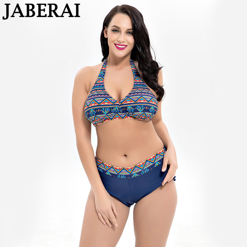 купить JABERAI Women Plus Size Bikini Set Brazilian Push Up Bathing Suit High Waist Swimwear Big Chest Swimsuit Large Size Swimsuit по цене 1155.28 рублей