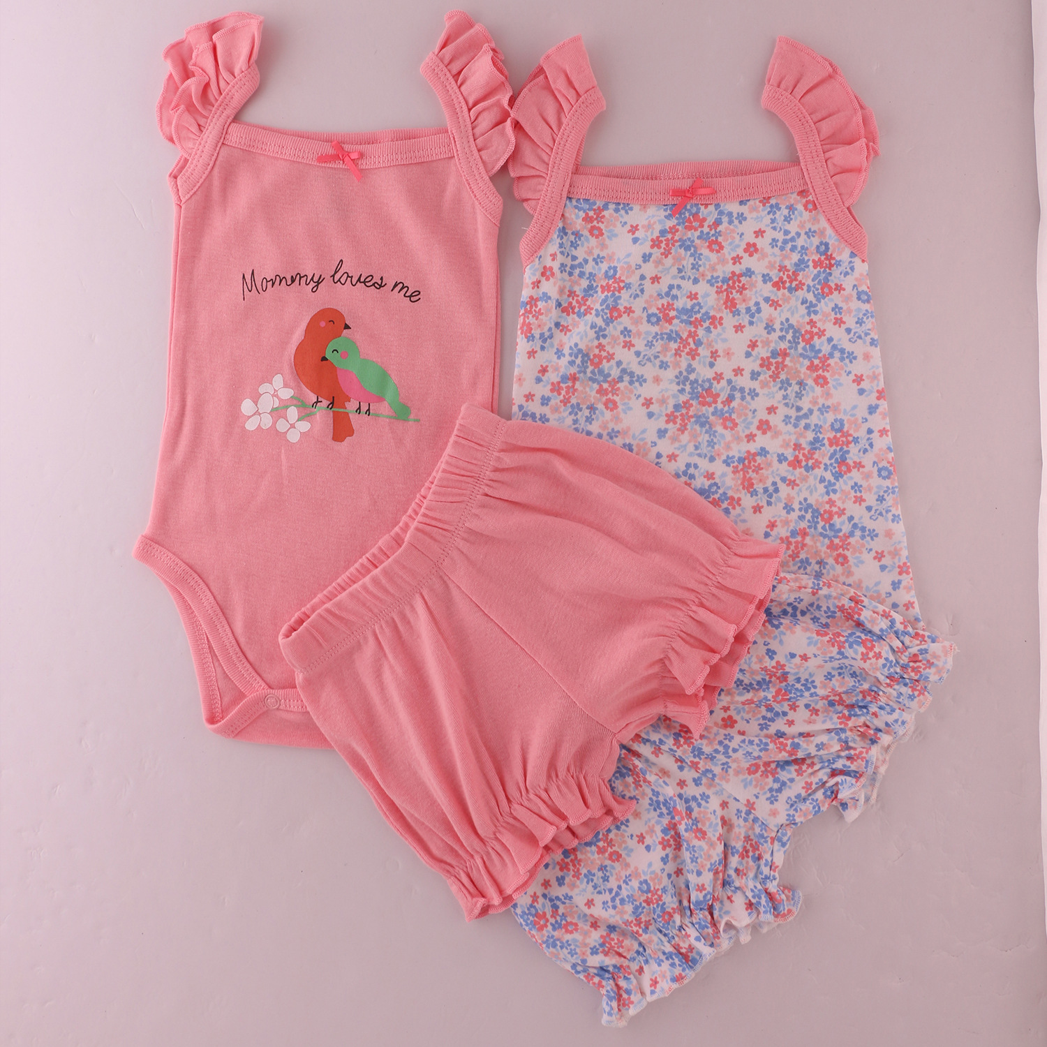 summer Cute baby girls Clothing Sets cotton Fashion printing baby clothes Newborn girl 4pcs suit 0-24month infant clothes