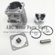 44 6 motor Cilinderkop Met 44MM Zuiger kit voor 2 takt 49cc Mini Dirt bike Mini ATV quad Pocket bike Zuiger Ring