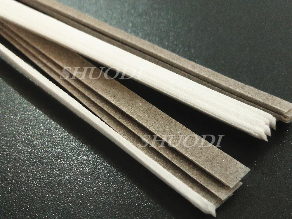 50 Pcs ( 4mm Width ) Dental Polyester Polishing Stick Strip with Single Side polishing side ( fine and coarse sand)