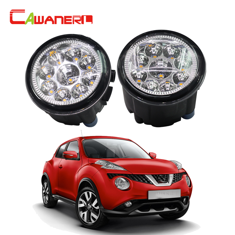 Cawanerl H11 H8 Car LED Light Fog Light DRL Daytime Running Light White Blue Orange 12V DC For Nissan Juke Hatchback 2011-2014 cawanerl h8 h11 auto fog light drl daytime running light car led lamp bulb for toyota prius hatchback zvw3 1 8 hybrid 2009
