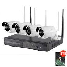4CH Беспроводной NVR комплект 1080 P система видеонаблюдения P2P 4 шт. WI-FI IP Камера открытый 2MP Водонепроницаемый видеонаблюдения Камера системы