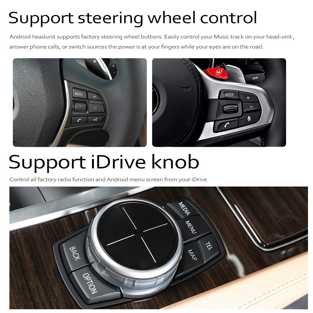מערכת ניווט GPS DVD לרכב נגן עבור BMW X5 E70 2011 ~ 2013 המקורי CIC מערכת אנדרואיד 8.0 עד Autoradio ניווט GPS (2)