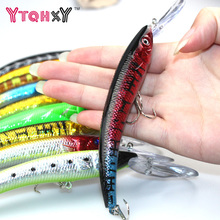 1PCS 15.5cm 15.3g Fishing Lure Big Minnow Crankbait iscas artificiais para pesca Bass Trolling Bait lures fishing tackle WQ252
