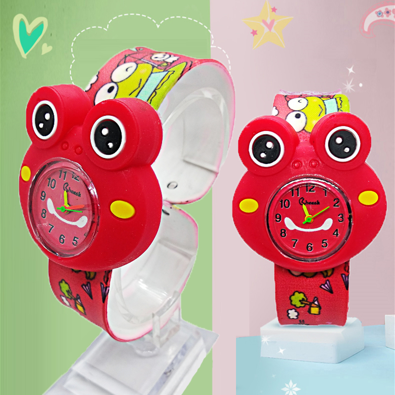 2019 New Listing Wholesale Fashion Girl Boy Students Clock Children Watch Cartoon Frog Baby Toy Kids Digital Electronics Watches