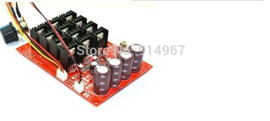Adjustable 60A DC 10-50V PWM DC Motor Speed Controller 3600w 12V 24V 36V 40V 50V 60A Speed Switch Regulator стоимость